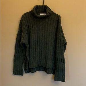 Anthropologie JOA chunky green sweater